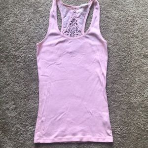 Lace Ribbed Tank Top